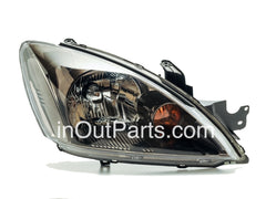 Headlight Right Passenger Side MITSUBISHI LANCER 2003 2004 2005 2006 2007  Black