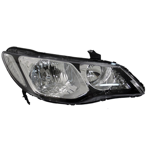 Headlight Right fits HONDA CIVIC 2005 2006 2007 2008 2009 2010 2011 4 Doors Headlamp Right for Leveling