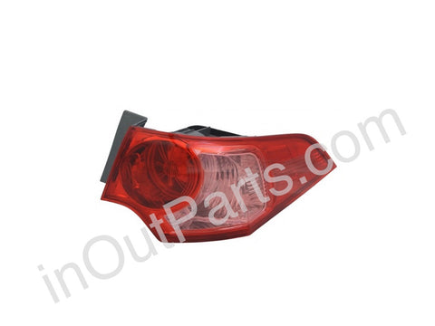 Tail Lights Right fits HONDA ACCORD 2011 2012 2013 Rear Lamps Side Passenger - pink
