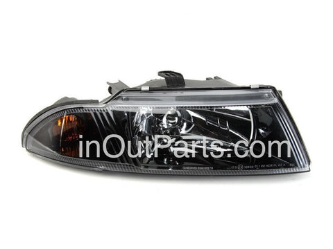 Headlight right for MITSUBISHI CARISMA 1998-2004 Right Passenger Side - BLACK
