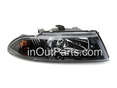 Headlights for MITSUBISHI CARISMA 1998-2004 Right Passenger Side - BLACK