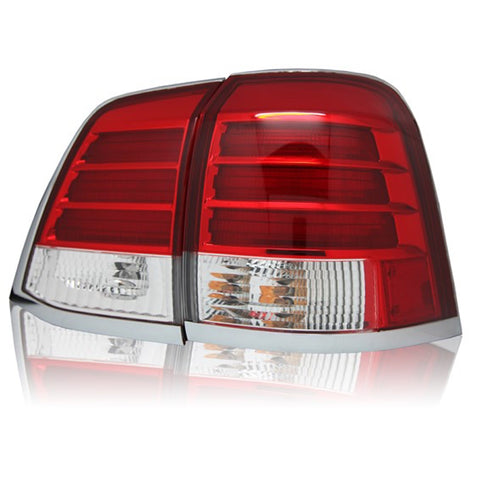 Tail Lights fits TOYOTA LAND CRUISER 200 2007-2014 Rear Lamps SET LEFT + RIGHT PAIR Outer - Red LED Tuning SET