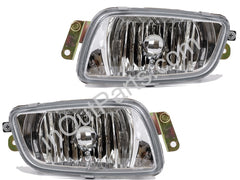 Fog Lights fits Mitsubishi PAJERO / MONTERO 1999 2000 2001 2002 2003 - NEW Clear Driving Lamps Pair Quality - Inout Parts