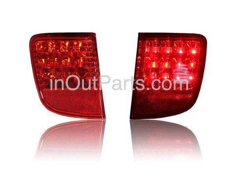 Rear Lights LED for Toyota Land Cruiser 200 2007 2008 2009 2010 2011 Tail Lamps Reflector Light Pair in rear bumper