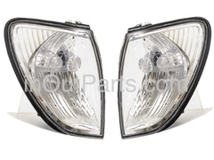 Front Turn Signal Light Toyota Land Cruiser 100 - 2000 2001 2002 2003 2004 2005 White Marker Parking Corner Pair