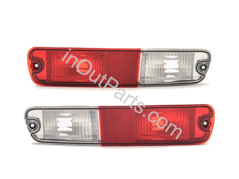 Tail Lights for MITSUBISHI PAJERO 2003 2004 2005 2006 Rear Reflector Light Pair in rear bumper