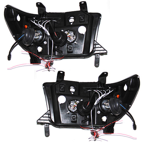 Headlights SET for TOYOTA TUNDRA / SEQUOIA 2007 2008 2009 2010 2011 2012 2013 2014 2015 2016 2017 Headlamps BLACK Tuning Led