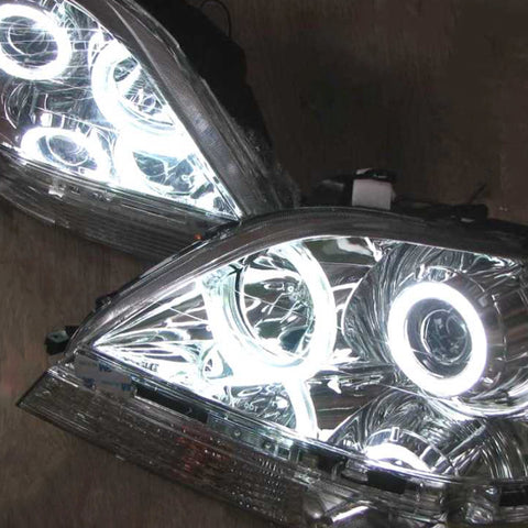 Headlights for LEXUS RX300 / for TOYOTA HARRIER 1998-2002 Left Driver Side + Right Passenger Side - Lens Chrome Tuning SET