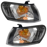 Front Turn Signal Light fits TOYOTA COROLLA / SPRINTER WAGON 1997 1998 1999 2000 2001 2002 Marker Parking Corner Left + Right Pair BLACK CRYSTAL