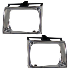 Bezels for Headlights SET fits TOYOTA HILUX / SURF / 4-RUNNER 1988 1989 1990 1991 Cover Headlights Pair - Inout Parts