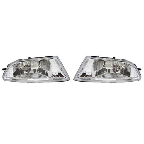 Fog Lights - Clear Driving Lamps fits HONDA FIT ARIA 4 Doors 2004 2005 2006 2007 2008 2009 Pair Quality