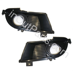 Cover Fog Lights In Bumper for Mitsubishi Lancer 2003 2004 2005 Pair Quality - Inout Parts
