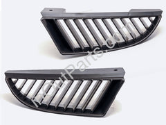 for Mitsubishi COLT 2006 2007 2008 Front Radiator Grille Black Set Left + Right Pair - Inout Parts