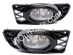 Fog Lights Pair fits Honda CIVIC 2008 2009 2010 2011 - Clear Driving Lamps Quality - SET - Inout Parts