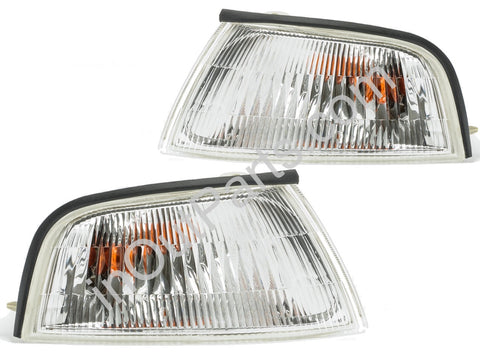 Turn Signal Light Marker Parking Corner PAIR fits Mitsubishi LANCER / MIRAGE 1997 1998 1999 2000 4D Sedan