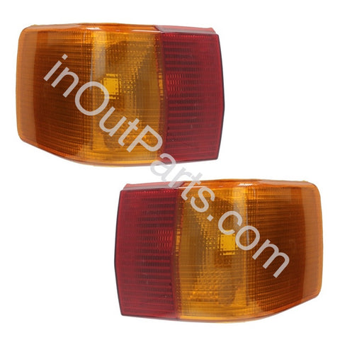 Tail lights Pair for Audi 80 1986 1987 1988 1989 1990 1991 Rear Lamps Left+Right
