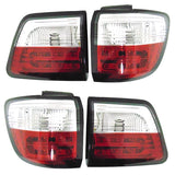 Tail Lights LED SET 4 pcs fits TOYOTA FORTUNER 2005 2006 2007 2008 2009 2010 2011 Rear Lamps LEFT & RIGHT Pair Tuning RED
