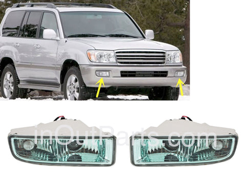 Fog Lights for LEXUS LX470 1998 1999 2000 2001 2002 2003 2004 2005 2006 2007 Driving Lamps Pair