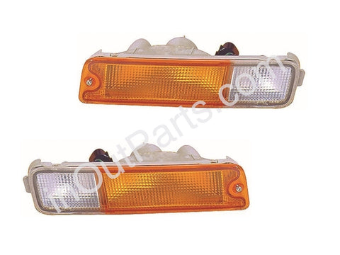 Front Turn Signal Lights fits MITSUBISHI L200 / TRITON 1996 1997 1998 1999 2000 2001 2002 2003 2004 2005 Marker in Bumper PAIR