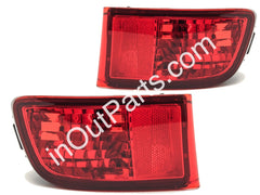 Rear Reflector Lights fits Toyota Land Cruiser PRADO 120 2002 2003 2004 2005 2006 2007 2008 2009 Pair SURF in Bumper