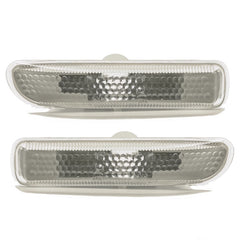 fits BMW E46 1998 1999 2000 2001 Side Marker PAIR Indicator Turn Signal Light - WHITE - Inout Parts