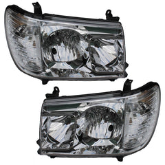 Headlights TOYOTA LAND CRUISER 100 1998 1999 2000 2001 2002 2003 2004 Set Clear Crystal