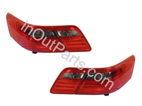 Tail Lights LED fits TOYOTA CAMRY 2006 2007 2008 2009 Rear Lamps SET LEFT + RIGHT PAIR - RED STRIPED LED SET