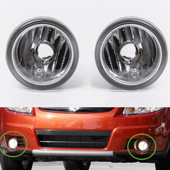 Fog Lights fits Suzuki SX4 HBK 2006 2007 2008 2009 - ; Aerio 2002 - 2005 ; Liana 2001 - 2005 - Clear Driving Lamps Pair - Inout Parts
