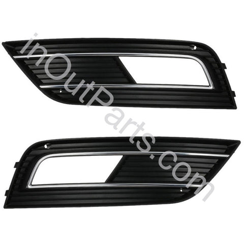 Cover Fog Lights for Audi A4 2011 2012 2013 2014 2015 Bezel Driving Lamps Pair Quality