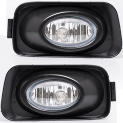 Fog Lights fits HONDA ACCORD 2002 2003 2004 2005 - Clear Driving Lamps Pair Quality - Inout Parts