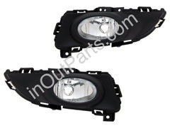 Fog Lights fits Mazda 3 2004 - 2008 5 doors Hatch Clear Driving Lamps Pair - Inout Parts