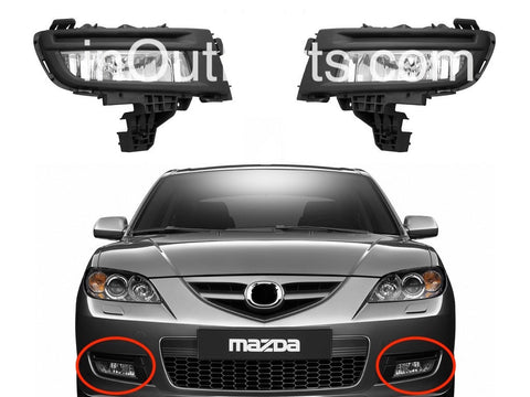 Fog Lights fits Mazda 3 SPORT 2004 2005 2006 2007 2008 Clear Driving Lamps Pair