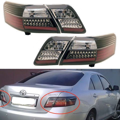 Tail Lights LED fits TOYOTA CAMRY 2006 2007 2008 2009 Rear Lamps SET LEFT + RIGHT PAIR - SMOKE LED SET