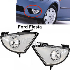 Fog Lights fits Ford Fiesta 2002 2003 2004 2005 Clear Driving Lamps Left + Right Pair - Inout Parts