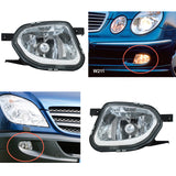 Fog Lights fits W211 S211 2002 2003 2004 2005 2006 Sprinter fits Mercedes 2005 - 2013 Clear Driving Lamps Pair
