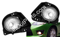 Fog Lights fits Mazda 2 2007 2008 2009 - Clear Driving Lamps Pair - Inout Parts