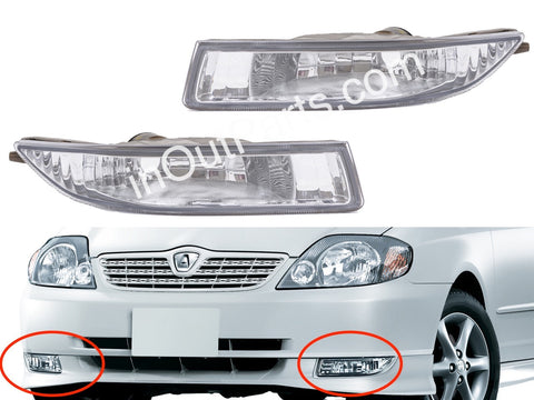 Fog Lights Toyota Corolla 2000 2001 2002 - Driving Lamps Pair Quality SUPER RUNX ALLEX Fielder