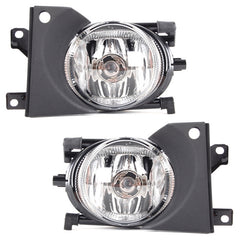 Fog Lights Pair Accessories for BMW E39 2000 2001 2002 2003 Clear Driving Lamps Left & Right Set - Inout Parts