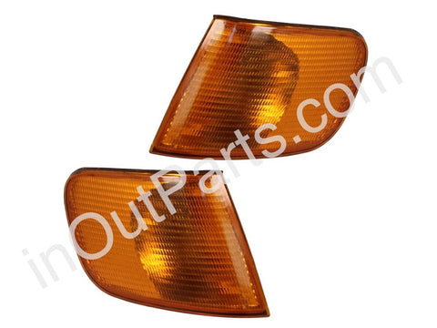 Front Turn Signal Light for AUDI 100 1990 1991 1992 1993 1994 Side Marker Corner PAIR YELLOW