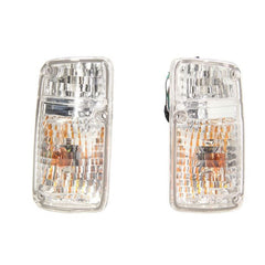 Front Turn Signal Light for NISSAN Patrol / Safari  1987 1988 1989 1990 1991 1992 1993 1994 Marker Parking Corner Pair CHROME