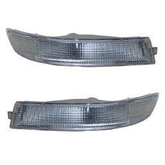 Front Turn Signal Light fits TOYOTA COROLLA #E10# 1991 1992 1993 Marker Parking Corner Left + Right Pair WHITE