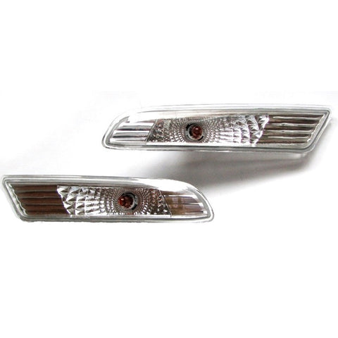Side Marker PAIR Indicator Turn Signal Light for LEXUS ES300 2001 - 2005 LEFT+RIGHT PAIR - Chrome SET