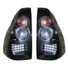 Tail Lights LED fits Toyota Land Cruiser PRADO 2002-2009 Rear Lamps SET LEFT + RIGHT BLACK TUNING PAIR