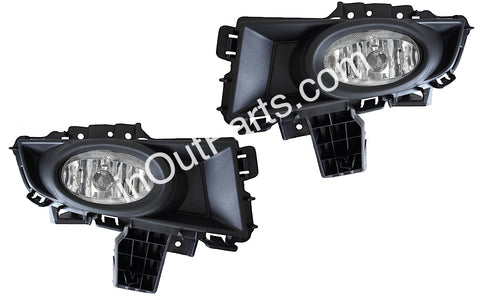 Fog Lights fits Mazda 3 2006 2007 2008 Clear - Driving Lamps Pair - SEDAN