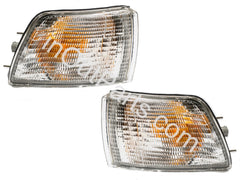 fits MITSUBISHI GALANT 1988 - 1992 Turn Signal Light White Marker Parking Corner PAIR - Inout Parts