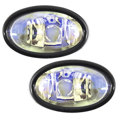 Fog Lights - Clear Driving Lamps fits HONDA STREAM 2000 2001 2002 2003 2004 Pair Quality - Inout Parts