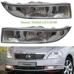 Fog Lights for Nissan TEANA 2003 2004 2005 2006 2007 2008 J31 - Clear Driving Lamps Pair Quality SUPER - Inout Parts