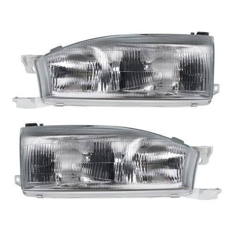 Headlights SET fits TOYOTA CAMRY / SCEPTER 1992 1993 1994 1995 Headlamp Left + Right Pair