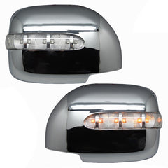 Mirror Cover with Turn Signal, Outer Rear View fits Toyota Land Cruiser 100 1998 - 2007 Mirror Cover with Turn Signal, Outer Rear View Left + Rights Pair