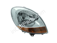 Headlight Right for RENAULT KANGOO 2003 2004 2005 2006 2007 Passenger Side - Chrome, Yellow Side Indicator